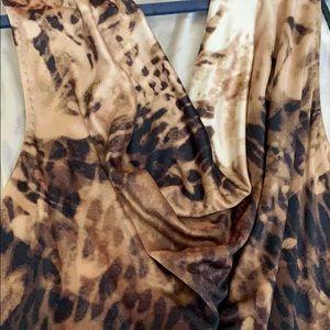 Elie tahari animal print top